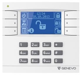 Manipulator graficzny LCD GENEVO do centrali PRiMA 16/64 WH-BL