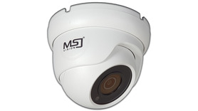 Kamera IP MSJ 5MPx 2,8mm kopułka POE biała/grafit