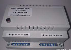 Moduł 16 wejść / ekspander SATEL 2 x INT-E na szynę DIN