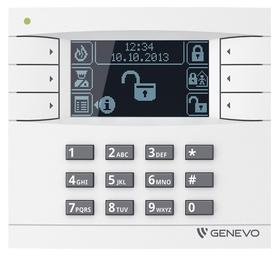 Manipulator graficzny LCD GENEVO do centrali PRiMA 16/64 WH-BK